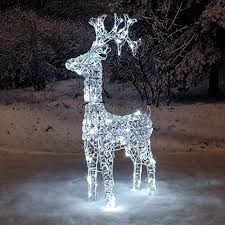 south eastern horticultural 1 2m twinkling reindeer white led