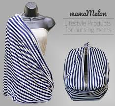 Car Seat Drape Nursing Scarf Blue Beige Stripes With Carseat Cover Png 852 782