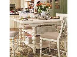 counter height gathering table paula deen pinehurst counter height kitchen gathering table with