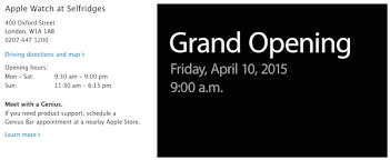Apple Store Paris by Apple Announces April 10 Grand Openings For Apple Watch Shops In