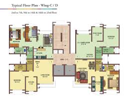 typical floor plan residential apartments and flats in malad west mumbai for sale