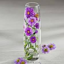 How To Paint A Glass Vase With Acrylic Paint Vases Design Ideas Update Thrift Store Glassware With Paint