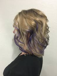 purple hair blonde balayage pravana vivids blonde highlights