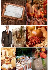 12 perfect combinations color schemes fall weddings