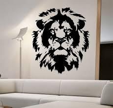 lion vinyl wall decal lion face abstract design sticker art decor