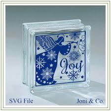 christmas angel svg file glass block svg cut file glass