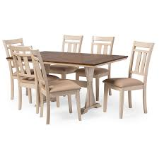 Dining Room Furniture Chicago Hollyhock Distressed White Dining Room Set From Homelegance 5123