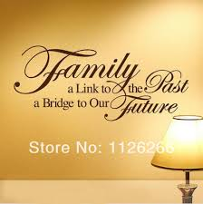 quote to decorate a room bathroom family bridge to our future vinyl wall stickers art home