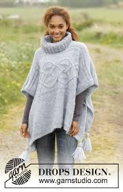 drops design poncho alanna drops 171 49 free knitting patterns by drops design