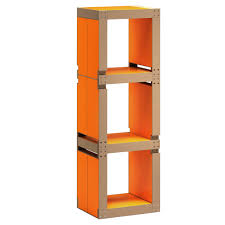 le de bureau orange etagère de bureau design orange structure ou bois