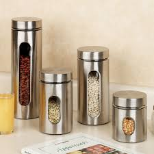 kitchen canister sets stainless steel palladian stainless steel window canister set stainless steel
