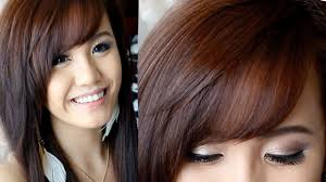 long hairstyle with side swept bangs