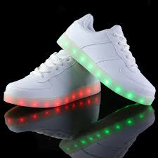 small flat led lights led shoes for adults women casual shoes usb led luminous shoes woman