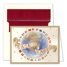 caspari cards caspari personalized world peace on earth christmas cards paperstyle