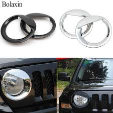 jeep angry headlights bolaxin exterior car styling abs chrome angry bird style bezels