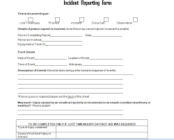 employee incident report templates get employee incident report form doc project management excel