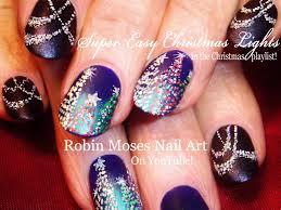 easy sparkle draped swag xmas lights nail art diy christmas tree