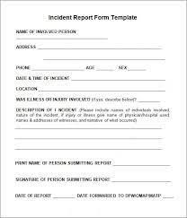 incident report template itil template incident report form incident report form