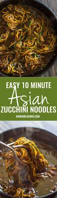 paleo küche easy 10 minute asian zucchini noodles low carb paleo recipe