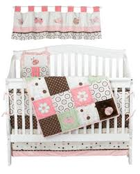 Pink Brown Crib Bedding Pink And Brown Bedding