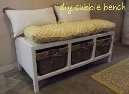 Diy Storage Bench Attractive Storage Bench With Cubbies How To Build An Entry Bench
