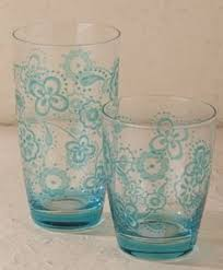 bicchieri cerve cerve verrerie tankard domino pack of 6 blue m10250