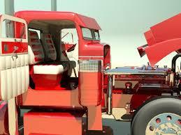 Semi Truck Interior Accessories Rod Semi Truck 3d Model Max Obj 3ds Fbx Cgtradercom Rod
