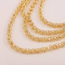 long chain necklace designs images Wholesale long chain necklace designs bridal gold plating layered jpg
