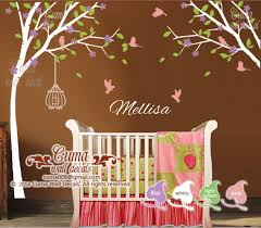 nursery wall decal name decal tree birds cuma wall decals