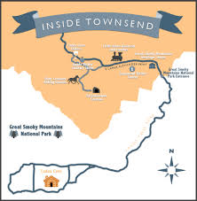 Great Smoky Mountains National Park Map The Best Townsend Map To Get You Around Town U2013 Inside Townsend