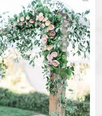 wedding arches flowers wedding ceremony arch with draping fabric and chandelier