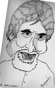 outline sketch u2013 amitabh bachchan desipainters com