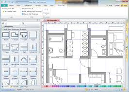 free floor planner use wall shapes in floor plan