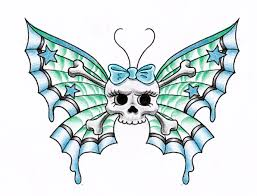 skull butterfly by themangaline on deviantart