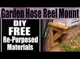 diy garden hose reel mount side of house youtube