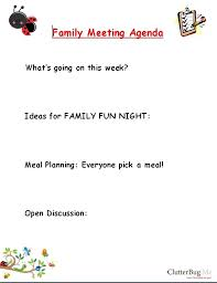 get organized with a family meeting