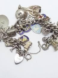 solid silver bracelet charms images Vintage solid silver 925 charm bracelet with 22 individual silver jpg