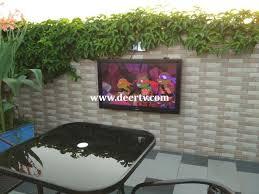 outdoor tv cabinet outdoor tv enclosure video deertv