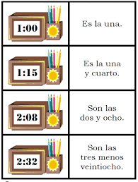 spanish telling time worksheets worksheets