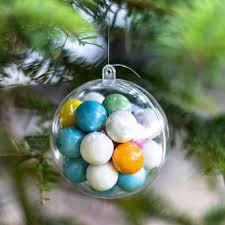 decorations tree ornaments fillable empty clear plastic