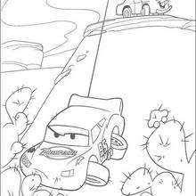lightning mcqueen racing coloring pages hellokids
