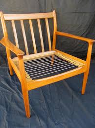 Wooden Sofa Chair With Cushions How To Refinish A Vintage Midcentury Modern Chair Diy