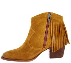 Brown Fringe Ankle Boots Marc Fisher Suede Fringe Ankle Boots Sade Page 1 U2014 Qvc Com