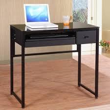 Small Glass Top Computer Desk Small Glass Desk Glass Computer Table Black Glass Desk Black
