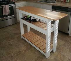 How To Build A Small Kitchen Island Diy Kitchen Island With Wine Rack Step By Step