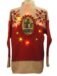 ugly lightup krampus christmas sweater celina yang scare