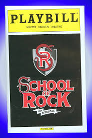 of rock the musical broadway playbill sierra boggess