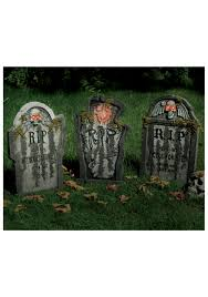 tombstone rip and skull 40cm artificial grave stones decoration