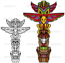 totem pole u2014 stock vector 169 cteconsulting 3984420 throughout