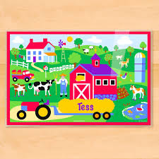 amazon com olive kids country farm personalized placemat home